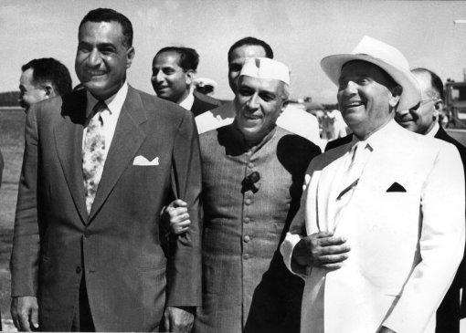 Naser, Nehru i Tito na Brijunima 1956. godine (Foto: AFP)