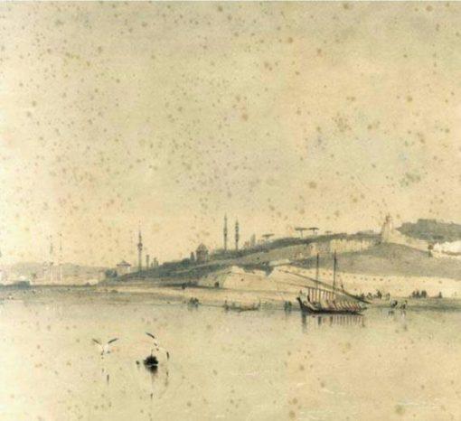 Panorama Beograda, 1820. godine..