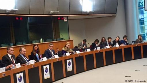 Predsjedavajuäi Predsjedniütva BiH Bakir Izetbegović sa delegacijom u Evropskom parlamentu