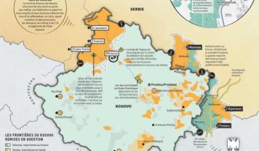 Francuski Le Monde Objavio Kako Izgleda Nova Karta Kosova I